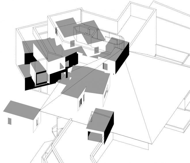 Rain of white cubes manuel herz architects - Difference shell house turnkey ...